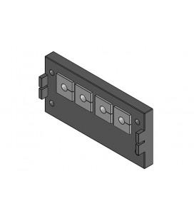 Pasamuros para cables conectorizados de la serie KEL-QUICK,  IP54 , para 4 insertos, ICOTEK