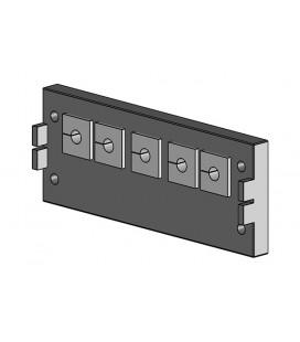 Pasamuros para cables conectorizados de la serie KEL-QUICK,  IP54 , para 5 insertos, ICOTEK