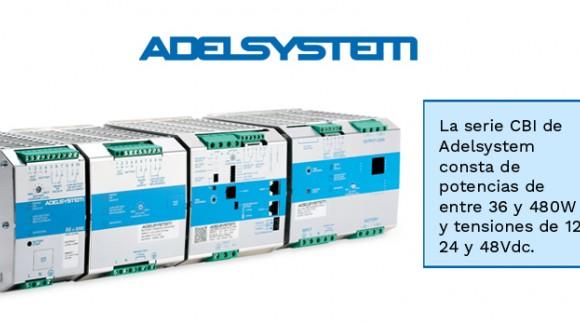 UPS DC a carril con cargador inteligente y apta para elevados picos de corriente de la serie CBI de ADELSYSTEM