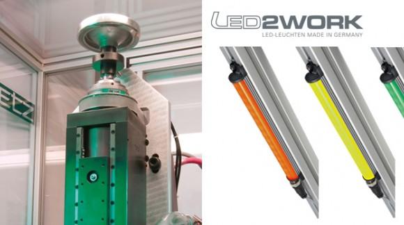 Iluminación LED industrial eficiente y robusta para señalización de estado de máquinas