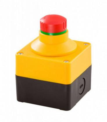 Caja equipada con seta de emergencia SIL_QRBLUVOO, Serie CAJAS