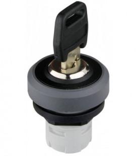 Selector de llave RKSSMA.., formato Saliente, IP65, taladro Ø 16, Serie OKTRON-R