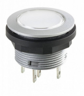 Pulsador SCTLF, formato rasante, IP67, taladro Ø 22, Serie SHORTRON