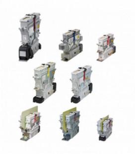 Contactor corriente continua bidireccional. Alta tensión. Familia completa CT, 4800Vdc, 400/800/1100A, 1NA/2NA/3NA, 24/36/48/72