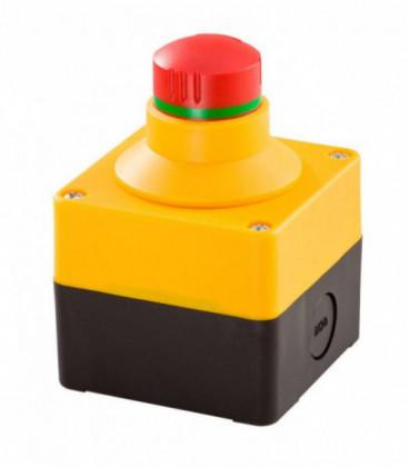 Caja equipada con seta de emergencia SIL_QRBUVOO, Serie CAJAS