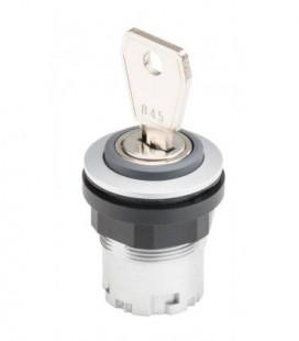 Selector de llave JRMSSA.., formato rasante, IP65, taladro Ø 22, Serie RONDEX JUWEL