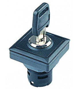 Selector de llave OKJSSA.., formato rasante, IP65, taladro 23,1x23,1, Serie OKTRON JUWEL