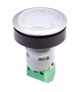 Indicador luminoso RRJL_24R_G, formato rasante, IP65, taladro Ø 22, Serie RONTRON-R-JUWEL