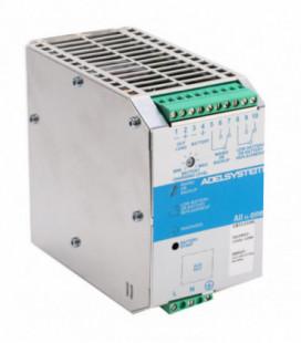 Cargador de baterías carril DIN 120W, Uin Vac monofásica, Uout 12Vdc, 100A, ADEL SYSTEMS