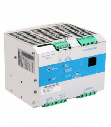 Cargador de baterías carril DIN 420W, Uin Vac monofásica, Uout 12Vdc, 35A, ADEL SYSTEMS