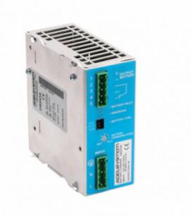 Cargador de baterías carril DIN 72W, Uin Vac monofásica, Uout 24Vdc, 3A, ADEL SYSTEMS