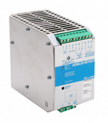 UPS DC carril DIN 120W, Uin Vac monofásica, Uout 12Vdc, 10A, ADEL SYSTEMS