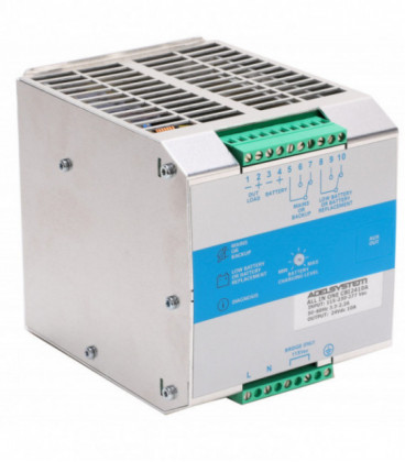 UPS DC carril DIN 240W, Uin Vac monofásica, Uout 24Vdc, 10A, ADEL SYSTEMS