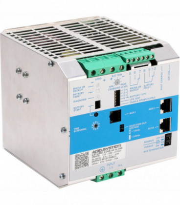 UPS DC carril DIN 280W, Uin Vac bifásica, Uout 12|24Vdc, 10A, ADEL SYSTEMS