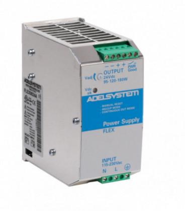 Fuente de Alimentación AC DC carril DIN 90W, Uin Vac monofásica, Uout 24Vdc, ADEL SYSTEMS