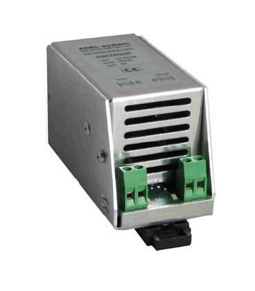 Fuente de Alimentación AC DC carril DIN 80W, Uin 6-28Vac, 9-39 Vdc. Uout 1.25-27Vdc, ADEL SYSTEMS