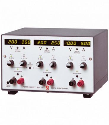 Fuente de alimentación programable DC 150W, Uout 0-20/0-20/0-10V/ 0-2,5/0-2,5/0-5A, DELTA ELEKTRONIKA