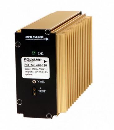 Convertidor DC DC en caja 150W, Uin 10-550Vdc, Uout 0-125Vdc, POLYAMP