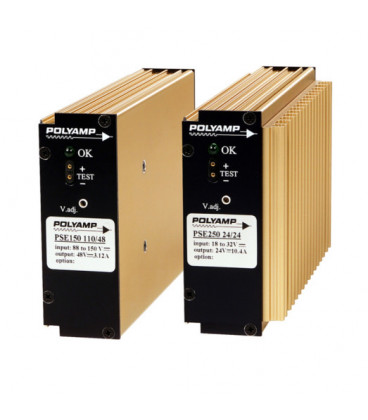 Convertidor DC DC en caja 150W, Uin 10-270Vdc, Uout 12|13,2|15|24|48Vdc, POLYAMP