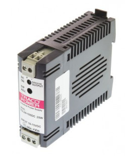 Convertidor DC DC carril DIN 24W, Uin 18-75Vdc, Uout 5Vdc, TRACO POWER