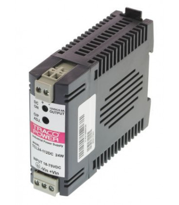 Convertidor DC DC carril DIN 24W, Uin 18-75Vdc, Uout 12Vdc, TRACO POWER