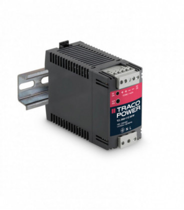 Convertidor DC DC carril DIN 60W, Uin 18-75Vdc, Uout 12Vdc, TRACO POWER