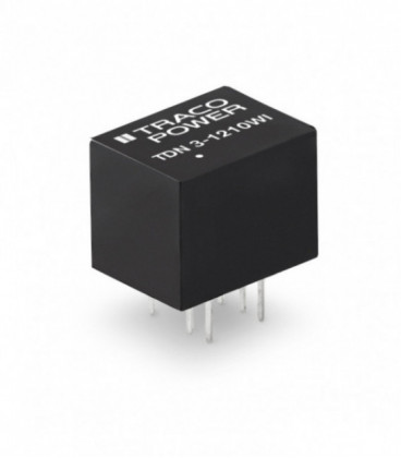 Convertidor DC DC para PCB 3W, Uin 4,5-75Vdc, Uout 5, 12, 15, ±12, ±15Vdc, TRACO POWER