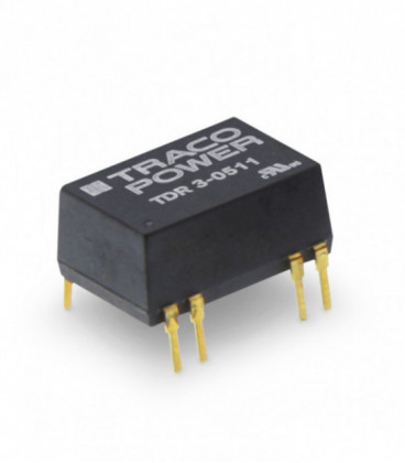 Convertidor DC DC para PCB 3W, Uin 4,5-75Vdc, Uout 5, 12, 15, ±5, ±12, ±15Vdc, TRACO POWER