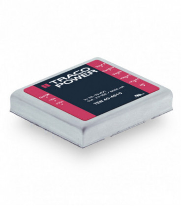 Convertidor DC DC para PCB, 40W, Uin 9-75Vdc, Uout 3.3, 5, 12, 15, ±5, ±12, ±15Vdc, TRACO POWER