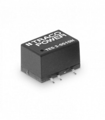 Convertidor DC DC para PCB 2W, Uin 4,5-26,6Vdc, Uout 3.3,5,12,15, ±5, ±12, ±15Vdc, TRACO POWER