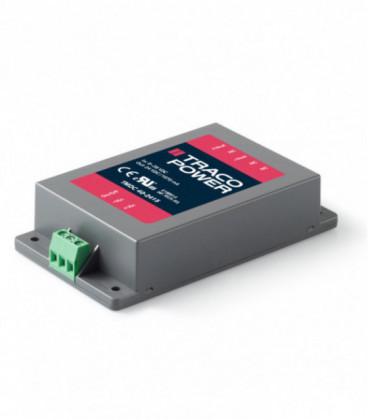 Convertidor DC DC en caja 40W, Uin 9-75Vdc, Uout 5,1, 12, 15, 24, 48Vdc, TRACO POWER