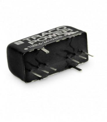 Convertidor DC DC para PCB 6W, Uin 9-160Vdc, Uout 3.3, 5, 12, 15,24, ±5, ±12, ±15Vdc, TRACO POWER
