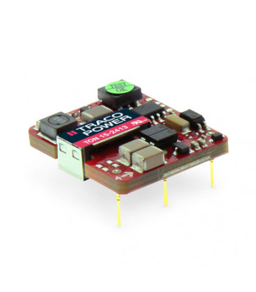 Convertidor DC DC para PCB 15W, Uin 4,5-75Vdc, Uout 3.3, 5, 12, 15Vdc, TRACO POWER