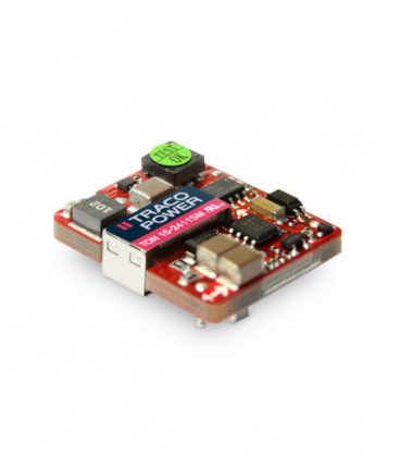 Convertidor DC DC para PCB 15W, Uin 18-75Vdc, Uout 3.3, 5, 12, 15Vdc, TRACO POWER
