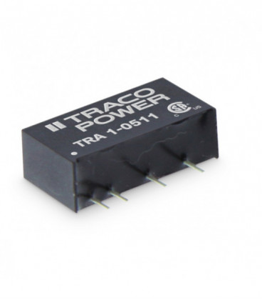 Convertidor DC DC para PCB 1W, Uin 4,5-26,6Vdc, Uout 5,9,12,15, ±5, ±12, ±15Vdc, TRACO POWER