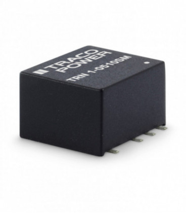 Convertidor DC DC para PCB 1W, Uin 4,5-75Vdc, Uout 3.3-15Vdc, TRACO POWER