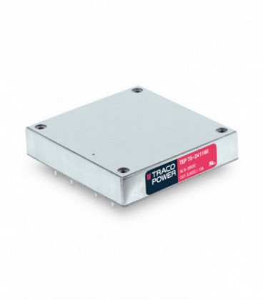 Convertidor DC DC en caja 75W, Uin 9-160Vdc, Uout 5, 12, 15, 24, 28, 48Vdc, TRACO POWER