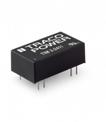 Convertidor DC DC para PCB 3,5W, Uin 4,5-75Vdc, Uout 5, 12, 15,24, ±12, ±15Vdc, TRACO POWER