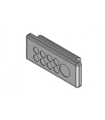 Pasamuros para cables no conectorizados, IP64, 9 cables, serie KEL-DP-E, color gris, ICOTEK