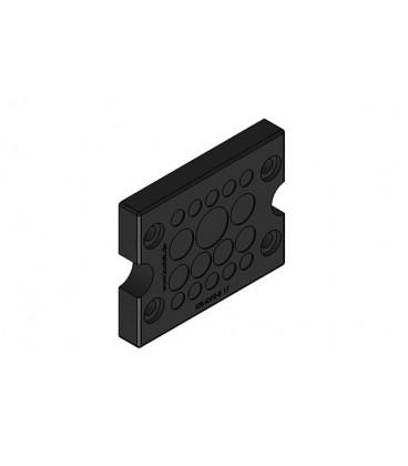 Pasamuros para cables no conectorizados, IP66, 17 cables, serie KEL-DPZ-B, color negro, ICOTEK