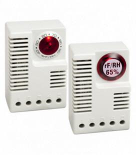Higrotermo serie ETF 012, rango de ajuste 0°C ... +60°C-50-90RH, Histéresis 4% RH, UL, STEGO
