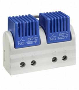 Termostato bimetálico doble calefacción/frío, serie FTD 011, rango de ajuste NC/NA 15°C-50°C, UL, STEGO