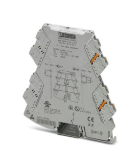 Convertidor analógico, Cin 0-20mA, Cout 0-10V, serie MINI ANALOG PRO, Phoenix Contact