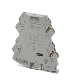 Convertidor analógico, Cin 100Ohm-10KOhm, Cout 0-5V|0-10V|0-20mA|4-20mA, serie MINI ANALOG PRO, Phoenix Contact