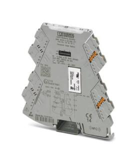 Convertidor analógico, Cin 0-10V 0-12V 0-20mA 4-20mA, Cout Relé de alarma, serie MINI ANALOG PRO, Phoenix Contact