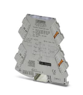 Convertidor analógico, Cin PT100 PT1000 Termopares, Cout 2 NA, serie MINI ANALOG PRO, Phoenix Contact