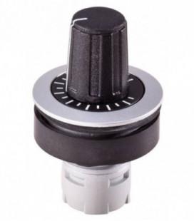 Mando para potenciómetro RRJR, formato rasante, IP65, taladro Ø 22, Serie RONTRON-R-JUWEL