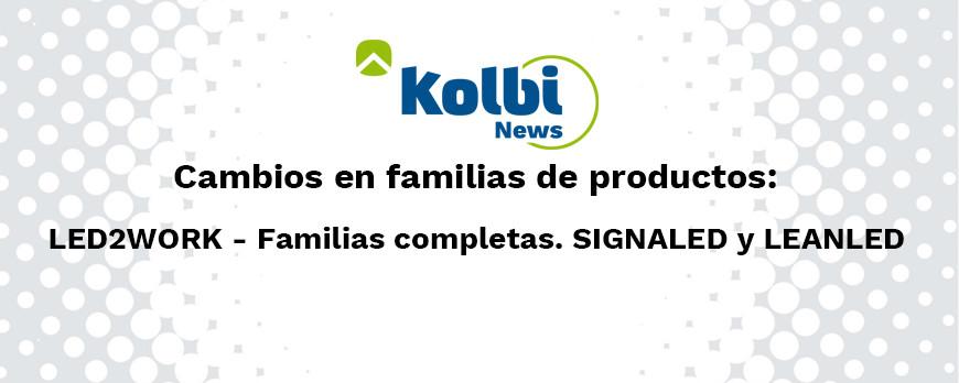 Cambios en familias de producto Led2Work 01/03/2021