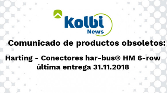Los conectores electronicos har-bus® HM 6-row pasarán a ser obsoletos el 31.11.2018
