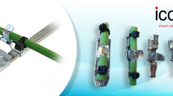 Nuevos clips de apantallamiento EMC de ICOTEK, conexión fiable de pantallas de cables en redes Profinet